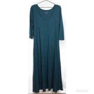 Soft Surroundings Teal Maxi Dress
